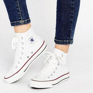 Converse White high top sneakers